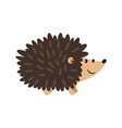 hedgehog cartoon icon vector image vector image