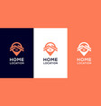 home location logo templates and business card vector image