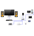 Home network with the server data store vector image vector image