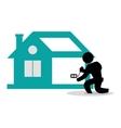 House construction electrcial technician tool vector image