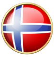 icon design for norway flag vector image vector image