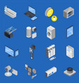 iot internet things isometric icon set vector image