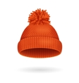 Knitted Woolen Red Hat for Winter Season vector image