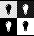 light bulb icon isolated on black white and vector image