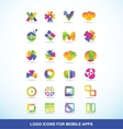Logo icon set elements for apps vector image vector image