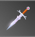 magic weapon isolated game element vector image vector image