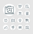 management icons set with research plan award vector image