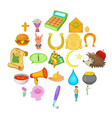 mercy icons set cartoon style vector image vector image