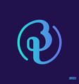 modern professional logo monograma bt in blue vector image