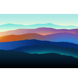 mountains landscape in beautiful colors vector image vector image