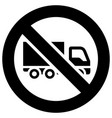 no truck or parking forbidden sign modern vector image vector image