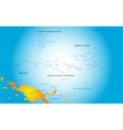 Palau map vector image vector image