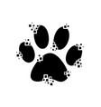 paw print as a mosaic vector image vector image