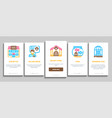 pet shop onboarding elements icons set vector image vector image