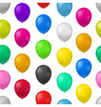 realistic detailed 3d color balloons seamless vector image vector image