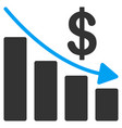 recession flat icon vector image