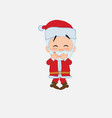 santa claus trying to contain the laughter vector image vector image