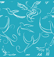 seamless background with abstract birds vector image