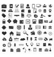 set black universal web and mobile icons vector image