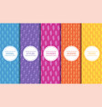 set colorful seamless patterns with vector image