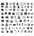 set of black universal web and mobile icons vector image vector image