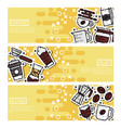set of horizontal banners about coffee vector image vector image