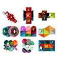 set of paper geometric option banners infographic vector image vector image