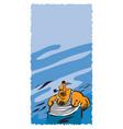 ship crew boatswain vector image