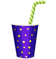 Single cup of drink with straw vector image vector image