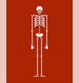 skeleton pixel art skull and bone 8 bit vector image vector image