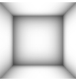 square empty room with shaded white walls vector image vector image