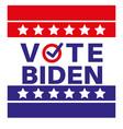 vote biden us american presidential election 2020 vector image