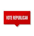 vote republican red tag vector image vector image