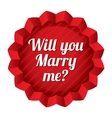 Wedding tag Will you marry me sticker vector image