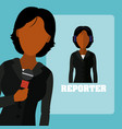 woman journalist reporter vector image
