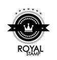 Black retro vintage label tag badge royal stamp vector image