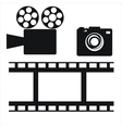 camera and film strip vector image