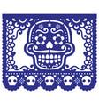 mexican sugar skull design papel picado vector image