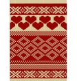 Knitted yarn swatch with slavic ornament vector image