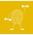 Train your brain vector image
