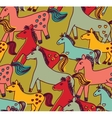 Horses seamless pattern color vector image