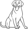 labrador retriever dog cartoon for coloring vector image
