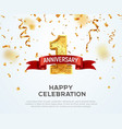 1 year anniversary banner template first vector image vector image