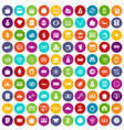 100 money icons set color vector image vector image