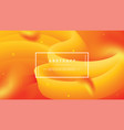 abstract wave flow orange background vector image