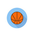 basketball ball outline in white background vector image vector image
