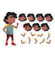 black afro american boy child kid teen vector image vector image