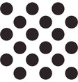 Black and white seamless polka dot pattern