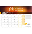calendar for august 2019 design print template vector image vector image