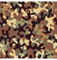 Camouflage seamless pattern with star shapes vector image